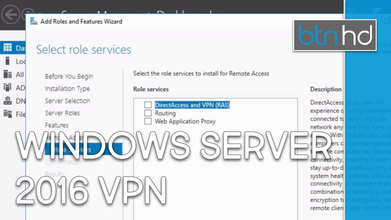 Setup Windows Server 2016 VPN!
