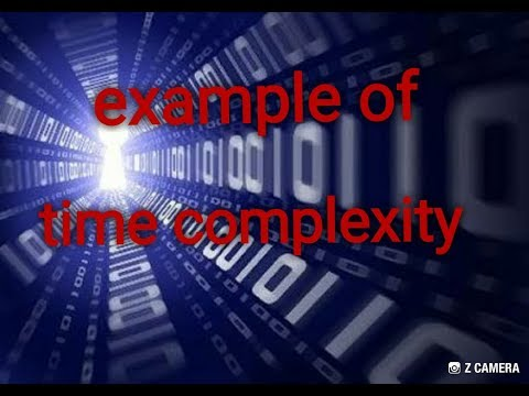 Example on time complexity and some rules / analysis of algorithm