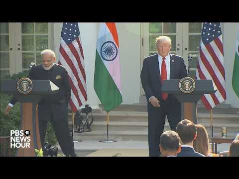 WATCH LIVE: Trump and Indian PM deliver joint statement at White House