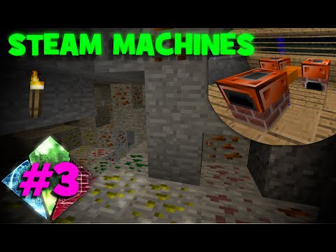 Huge Iron Deposit/Steam Machines! | FTB Resurrection Ep. 3