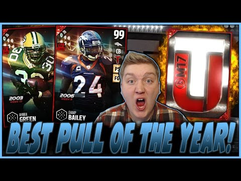 BEST PULL OF THE YEAR! | LTD CHAMP BAILEY AND AHMAN GREEN! | MUT 17 PACK OPENING