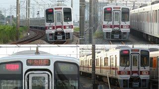 【東武半直30000系 31609F+31409F、51008F運用開始後も運用入り。南栗橋出庫シーン】東武50050系 51066Fが入場中は、やはり運用に入るのか