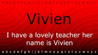 Download lagu How to pronounce Vivien with Zira mp4 MP3