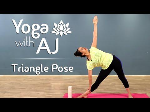 Triangle Pose Step By Step | Trikonasana | Yoga For Beginners Yoga With AJ