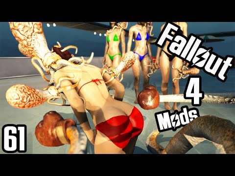 Fallout 4 Mod Review 61 - TENTACLE SQUID ARMOR AND FOLLOWER. BEST MOD EVER - Boobpocalypse