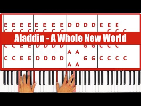 A Whole New World Aladdin Piano Tutorial  VOCAL