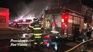 6 alarm fire in Leominster, MA destroys city block