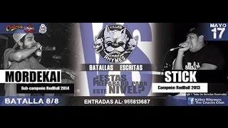 Stick vs Mordekai | Killer Rhymes (Batalla)