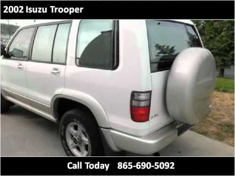 2002 isuzu trooper used cars knoxville tn youtube. Black Bedroom Furniture Sets. Home Design Ideas