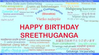Sreethuganga   Languages Idiomas - Happy Birthday