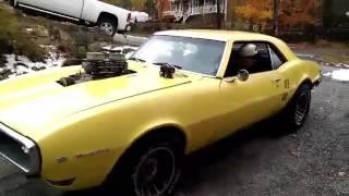 68 blown firebird burnout muscle car