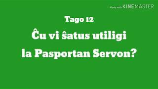 12a Tago – Ĉu vi ŝatus utiligi la Pasportan Servon? #30DRYC