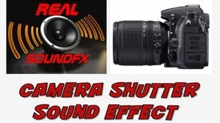 Camera shutter click sound effect - realsoundFX