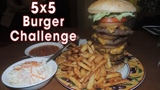 Scotty's 5x5 Cheeseburger Challenge in Galway!!