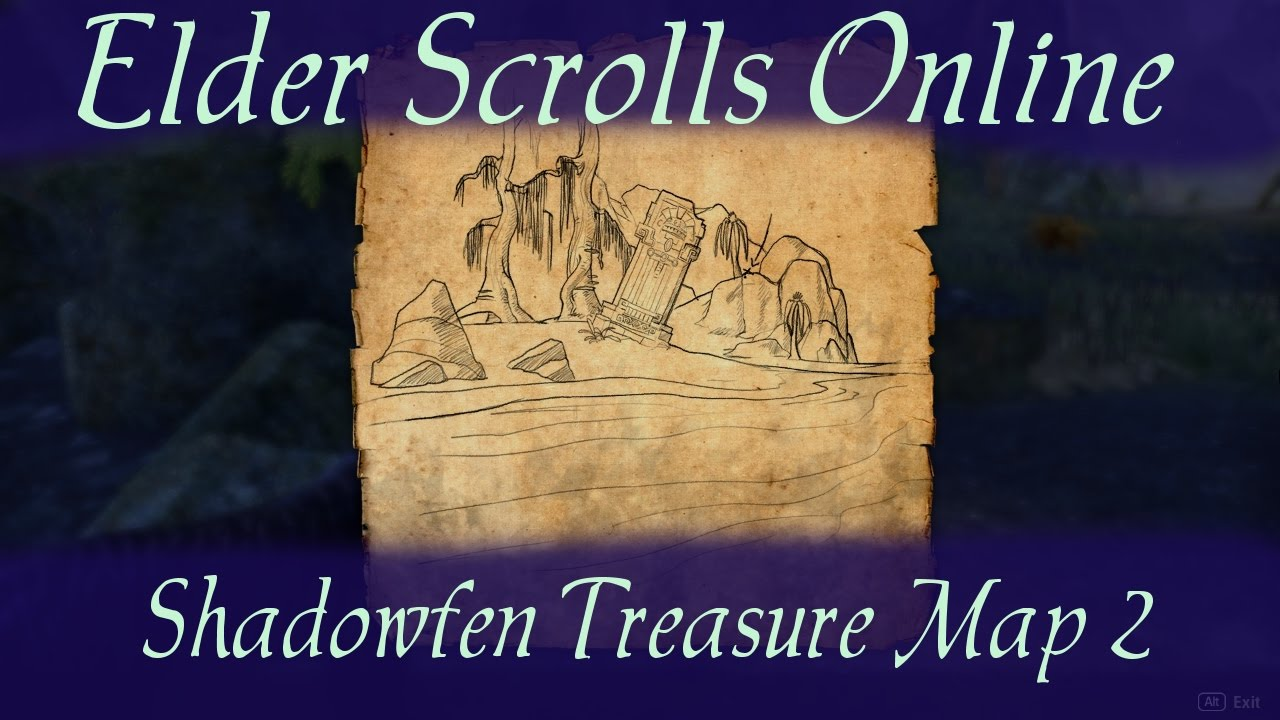 Shadowfen Treasure Map 2 [Elder Scrolls Online ESO] - YouTube