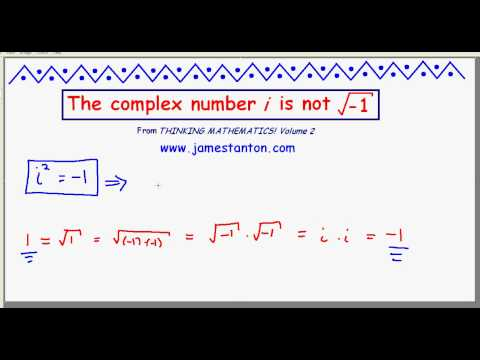 The Complex Number i is NOT the square root of negative one! (TANTON Mathematics) - YouTube