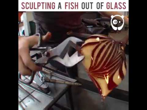 Sculpting a fish out of glass