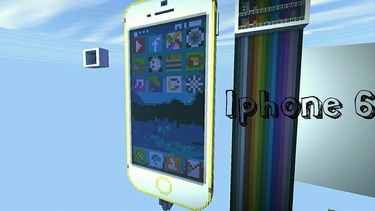 механизм телефон iphone работающий в майнкрафте #10