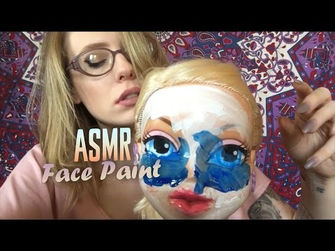 ASMR DOLL FACE PAINTING