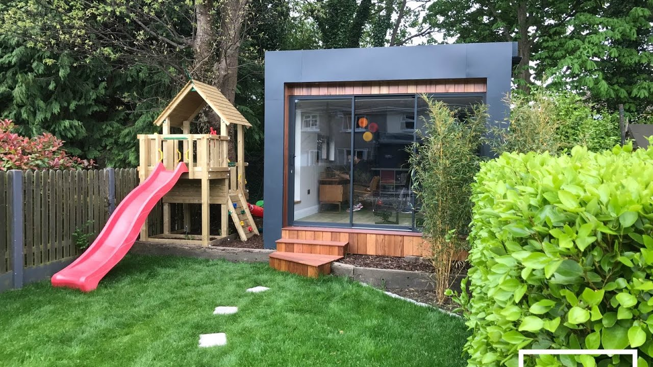 amazing home office garden room build time lapse youtube. Black Bedroom Furniture Sets. Home Design Ideas