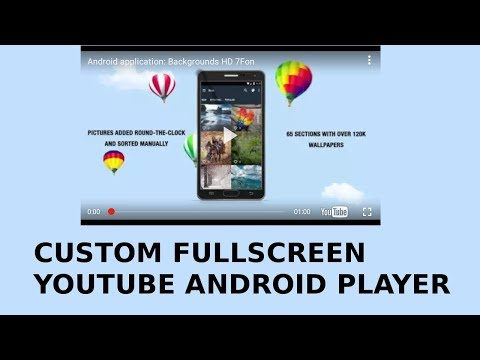 How to play video full screen in android studio