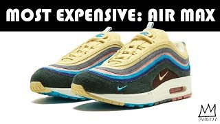 MOST EXPENSIVE: NIKE AIR MAX