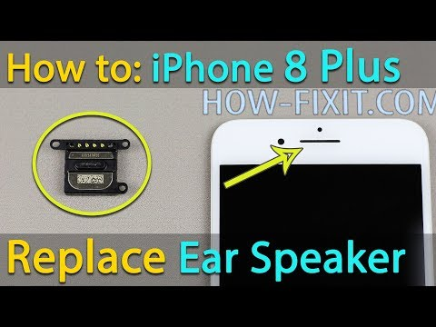 iPhone 8 Plus Ear Speaker replacement / cleaning