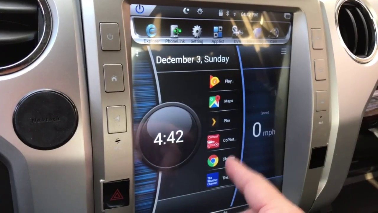 Tundra Android Tesla Style Radio Install New Launcher Car Launcher Pro Youtube