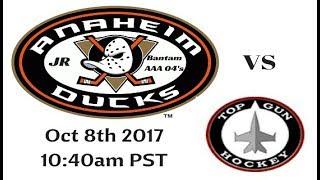 Jr Ducks vs Top Gun Hockey 10 8 17