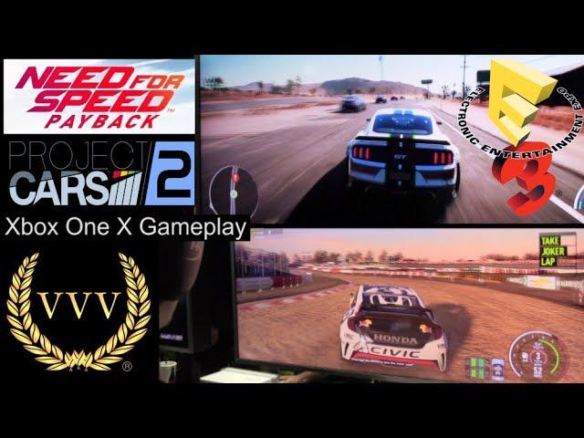 Xbox One X Gameplay - Project CARS 2 &  Need For Speed Payback