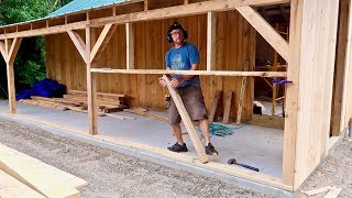 Learning NEW TRICKS Building Phase 3 on the Post and BEAM Barn Bought on the Internet