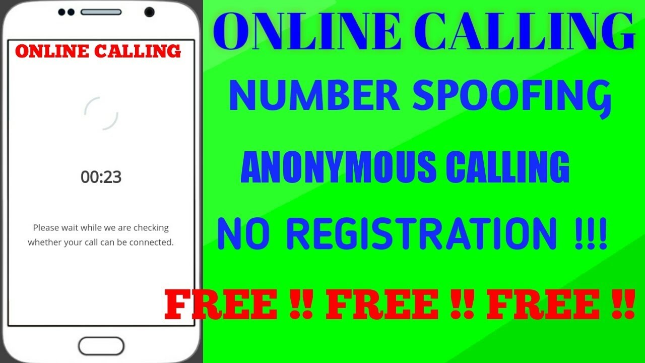 FREE ONLINE CALLING || NO REGISTRATION || ANONYMOUS CALLING || NUMBER  SPOOFING FOR FREE