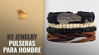 Productos 2018, Los 10 Mejores Ky Jewelry: KY Jewelry Leather Bracelet Cowhide Retro Braided Wrap