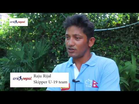 Raju Rizal - Captain of Nepal U19 Cricket team