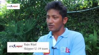 Raju Rizal - Captain of Nepal U19 Cricket team