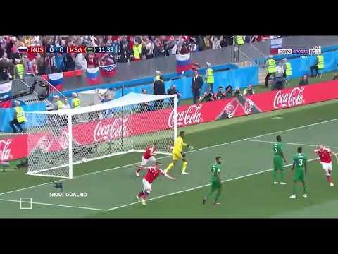 Rússia 5 x 0 Arábia saudita - Melhores Momentos & Gols (COMPLETO) - 14/06/2018