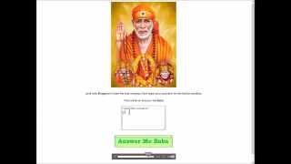Sai Baba Answers Your Questions   Ask Sai Baba