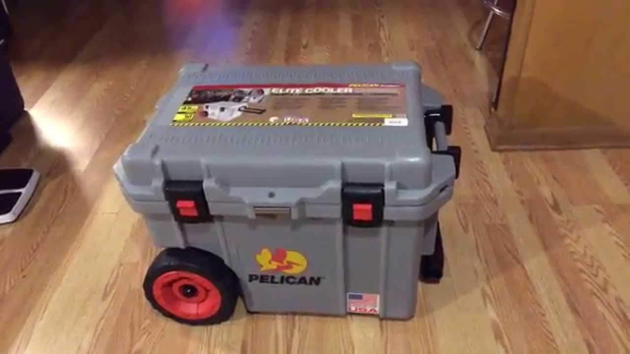 Pelican Elite 45q Pro Gear Rolling Cooler Unboxing