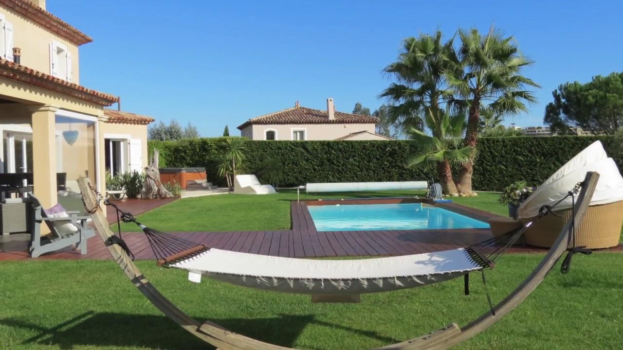 Mandelieu la napoule vente maison provencale 227 m for Piscine jardin youtube