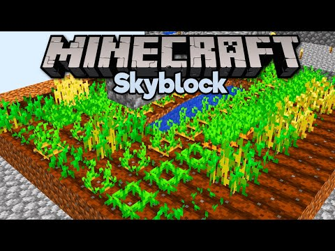 Crop Farm, New Cobble Gens & Nether Portal! ▫ Minecraft 1.15 Skyblock (Tutorial Let's Play) [Part 4]
