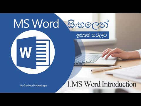 1 MS Word Introduction