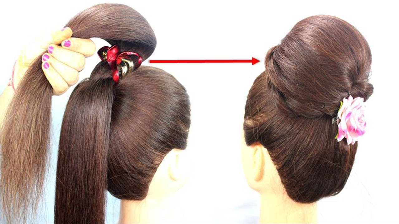 Easy Juda Hairstyle With Using Clutcher || Step By Step Hairstyle With Trick #hairstyle #juda #bun