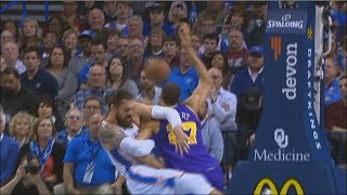 Steven Adams Almost Breaks Rudy Gobert