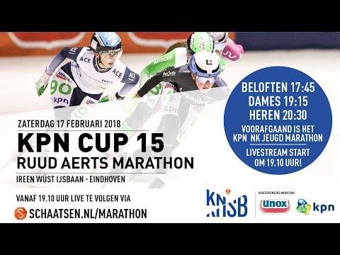 Livestream KPN Marathon Cup 15 Tilburg 17 februari 2018