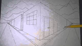 how to draw in two point perspective a city corner block part 3