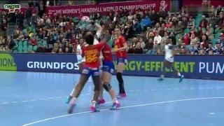 ESPAGNE VS FRANCE  Handball Championnat du monde féminin 2015 8e de finale