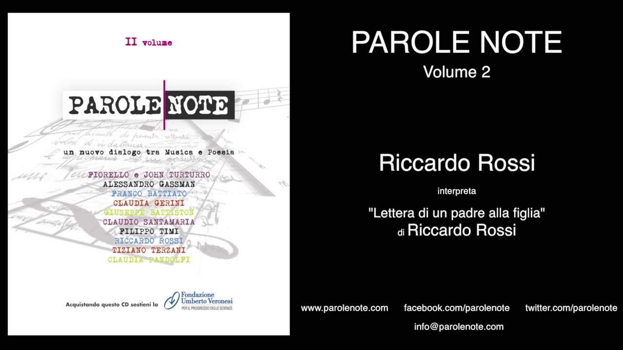 Popolare Riccardo Rossi - Lettera di un padre alla figlia - YouTube RT19