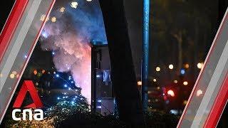 Hong Kong student death: Protesters start fire in Tseung Kwan O