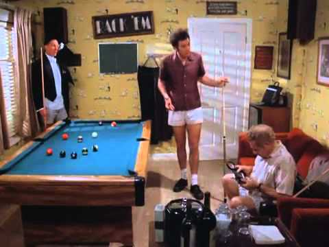 Seinfeld-Kramer and Frank Costanza play pool