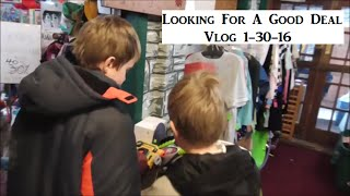 Vlog 1-30-16 Looking For A Good Deal